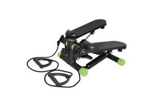 Степпер мини-степпер с эспандерами SportVida Black/Green SKL41-291319