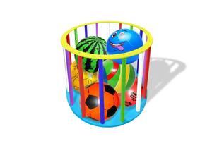 Стойка для мячей разноцветная