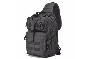 Сумка-рюкзак тактическая военная Kronos A92 800D, черная