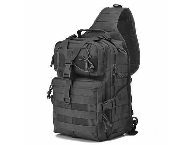 Сумка-рюкзак тактическая военная Kronos A92 800D, черная- объявление о продаже  в Києві