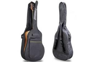Сумка-рюкзакпод гитару акустическую Guitar, Черная ( IBH001B )