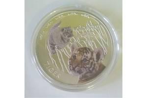сувенирная монета, серия детёныши диких животных