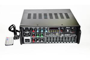 Усилитель мощности звука караоке UKC AV-326BT Bluetooth 240W Black (3sm_386270181)