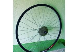 Вело колеса заднє 28 дюймів пістонірованниє подвійний обід під дискові гальма, під ексцентрик