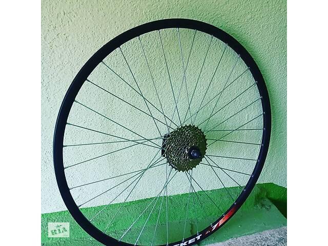 купить бу Вело колеса заднє 28 дюймів пістонірованниє подвійний обід під дискові гальма, під ексцентрик в Харкові