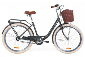 "Велосипед 26"" Dorozhnik LUX планет. 2020 (антрацитовый (м))"