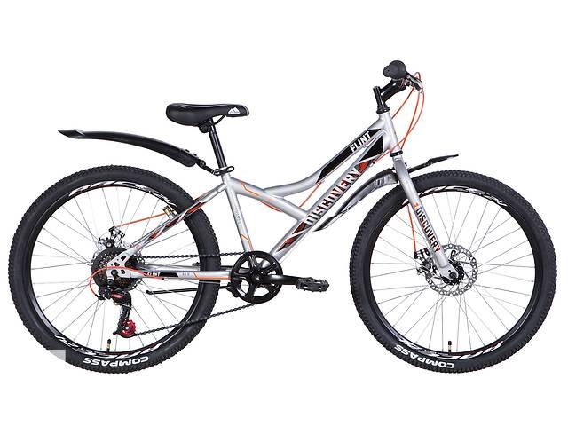 """купить бу Велосипед для подростка 24"""" Discovery Flint DD 2021 рама 13"""" серебристый в Запорожье"""