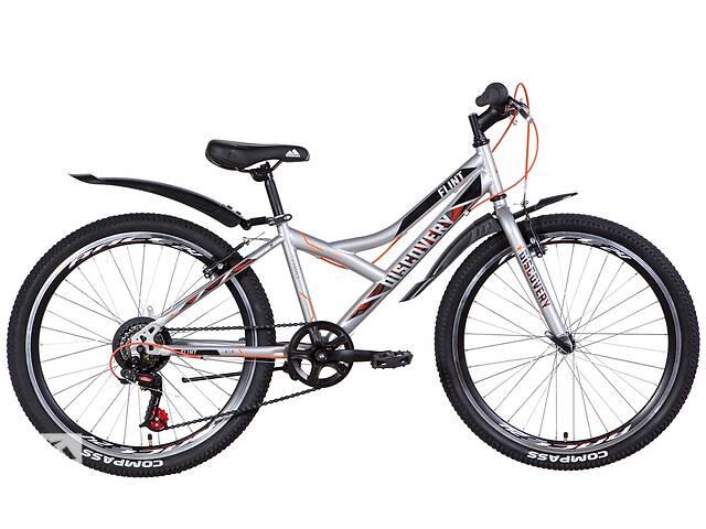 """Велосипед подростковый 24"""" Discovery Flint VBR 2021 рама 13"""" серебристый- объявление о продаже  в Запорожье"""