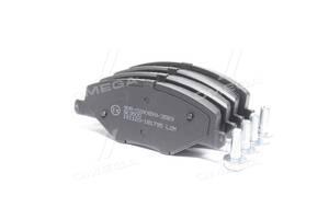 Колодка тормозная дисковая передняя SKODA FABIA 1.2-1.6 2007-2014, VW POLO 1.6 2010- (пр-во LPR)