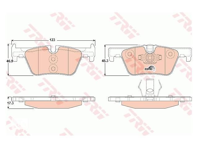 Колодка тормозная дисковая задняя BMW 1 (F20) 116D-125I 2010-, 3 (F30) 316-328 2011- (пр-во TRW)- объявление о продаже  в Харькове