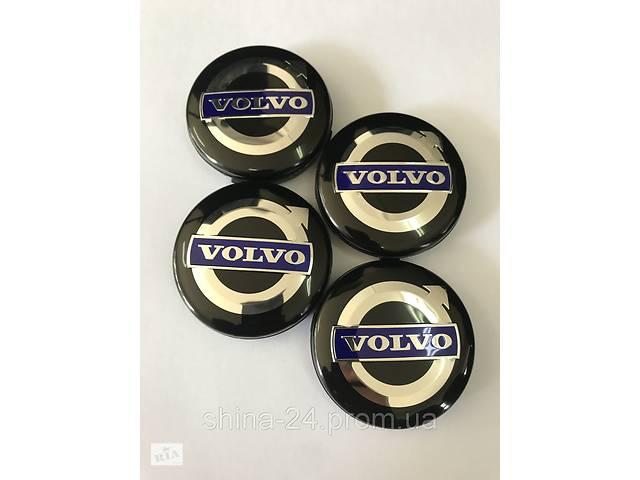 купить бу Колпачки заглушки в литые диски Volvo 64/61/10 мм Черные/Хром/Сирен. в Кременчуці