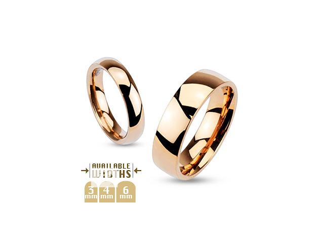 купить бу Кольцо обручальное цвет розовое золото, нержавеющая сталь 316L Spikes (США) в Баришівка