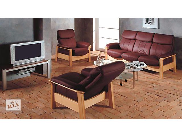 продам Комплект мягкой кожаной мебели Chicago Pyka (3r+2+1) бу в Киеве