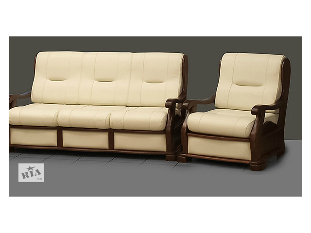 Комплект шкіряних меблів - Тріумф (диван 3р+крісло)  - объявление о продаже  в Києві