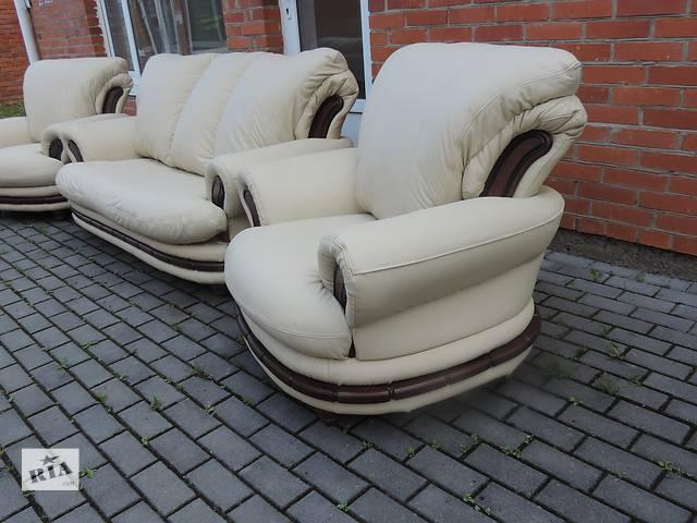 купить бу Кожаная мебель,кожаный комплект диван и кресла. PALERMO в Дрогобыче