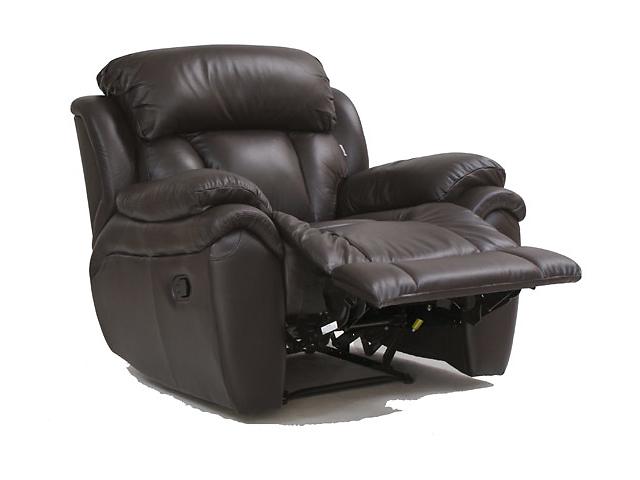 бу Шкіряне крісло Boston з функцією релаксації (реклайнер) в наявності в Києві