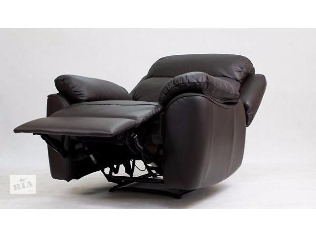 купить бу Кожаное раскладное кресло, Alabama Bis 1р черный цвет есть в наличии в Киеве
