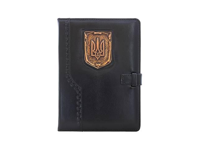 купить бу Кожаный ежедневник Герб Украины А5 в Киеве