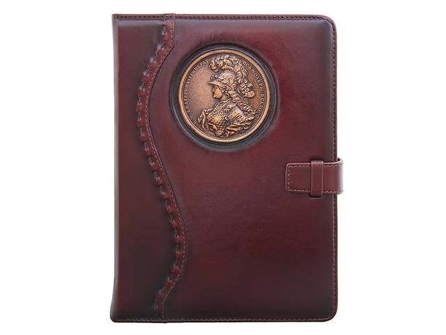 продам Кожаный ежедневник не датированный Екатерина BST 260013 А5 15х21 см. темно-коричневый бу в Киеве