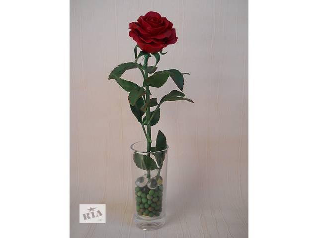 Красная роза из холодного фарфора. Ручная авторская работа. Интерьерная композиция. Подарок.- объявление о продаже  в Запорожье