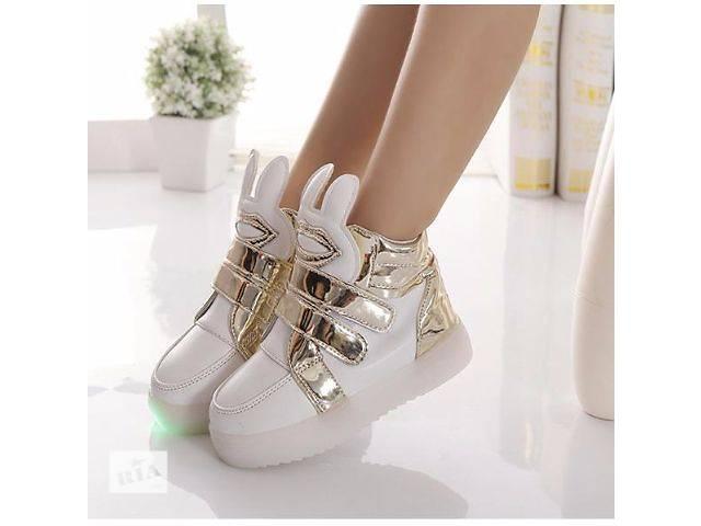 Кросівки-снікерси c вушками і підсвічуванням - Дитяче взуття в ... 73cb838125f7e