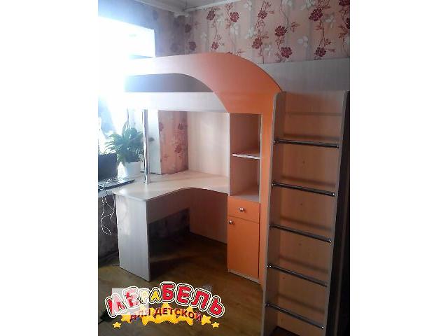 Кровать-чердак с рабочей зоной и угловым шкафом (к28) Merabel Рассрочка- объявление о продаже  в Харькове
