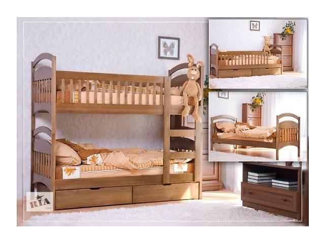 купить бу кровать Двухъярусная деревянная-трансформер напрямую с мебельного цеха выбор цвета -Бесплатный! в Одессе