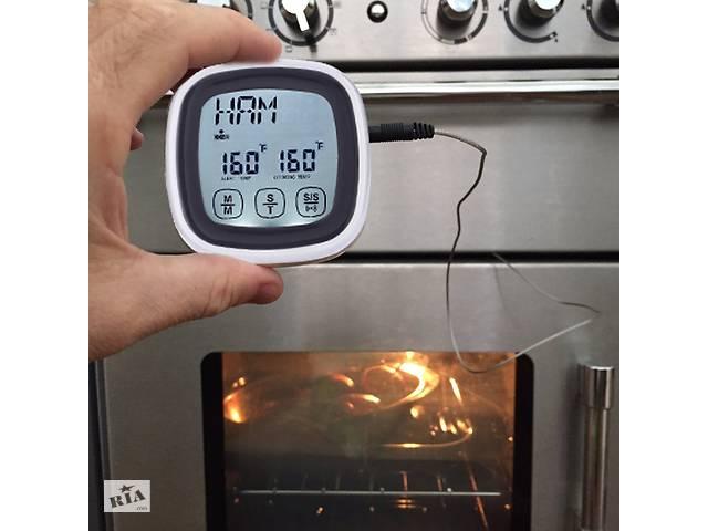 Кухонный пищевой сенсорный ТЕРМОМЕТР-ТАЙМЕР, градусник с сигналом