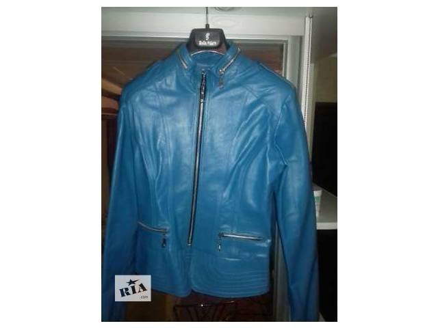 продам Куртка  женская кожаная голубая бу в Запорожье