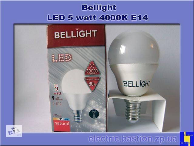 купить бу Лампа LED Bellight G45 220V/5W E14 4000K Энергосберегающая светодиодная в Запорожье