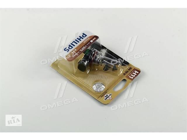 купить бу Лампа накаливания H11 12V 55W PGJ19-2  Vision +30  1шт blister (пр-во Philips) в Харькове