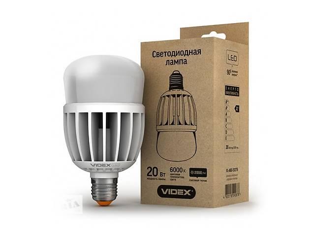 купить бу LED лампа VIDEX А80 20W E27 6000K 220V матовая в Запорожье