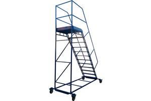 Лестница складская передвижная стальная