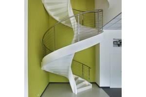 Лестницы, сходи, марші, ступеньки, лестница (бетонні, бетонные), монтаж