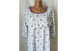 Ночные рубашки женские на байке 100% хлопок, р.48,52,58. От 3шт по 109грн