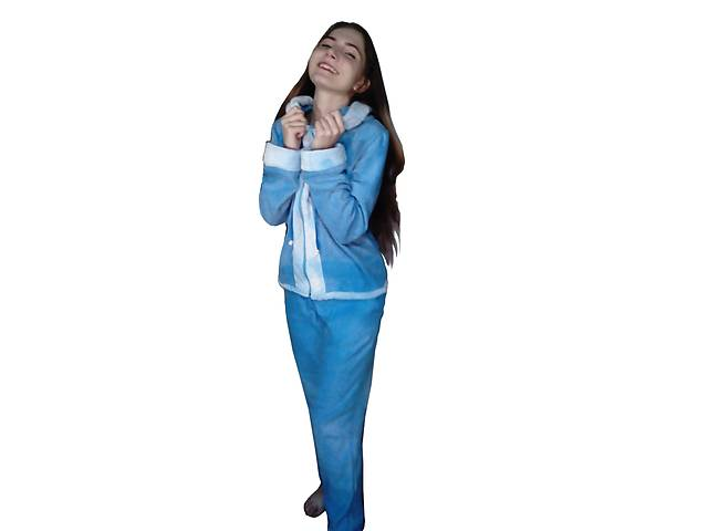 бу Теплая пушистая пижама, комплект длинные штаны и кофточка, флис в Белой Церкви