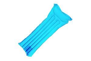 Матрас надувной Supretto одноместный пляжный, голубой (6038)