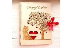 Свадебный фотоальбом из дерева А4