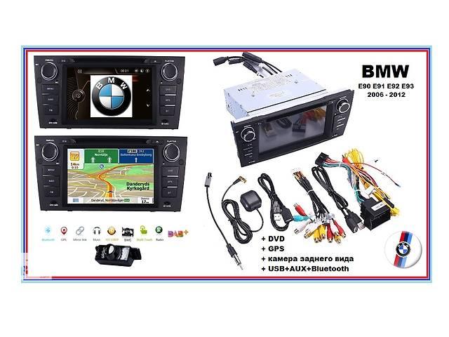 купить бу Магнітола BMW + DVD gps 7 дюймів для моделей E90 E91 E92 з 2006 -2012 в Вінниці