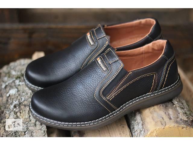 1901805c5 Barzoni 10 1 чёрные мужские полуботинки из натуральной кожи