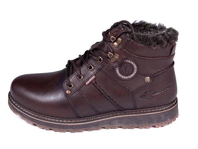 купить бу Мужские кожаные зимние ботинки Kristan City Traffic Brown в Одессе