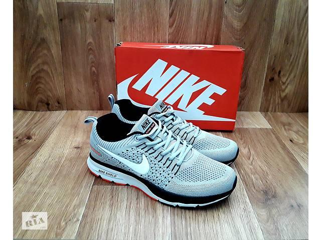 242931feed40f8 бу Мужские Кроссовки Nike Flyknit Racer тканевые серые и черные в Херсоне