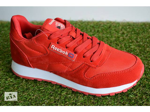 купить бу Чоловічі кросівки рібок класик червоні Reebok Classic Red Leather  в Южноукраїнську ee1de81359d74