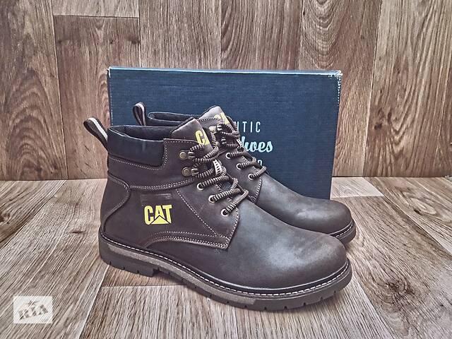 продам Мужские Зимние Ботинки CAT Caterpillar Winter кожаные коричневые бу в Херсоне