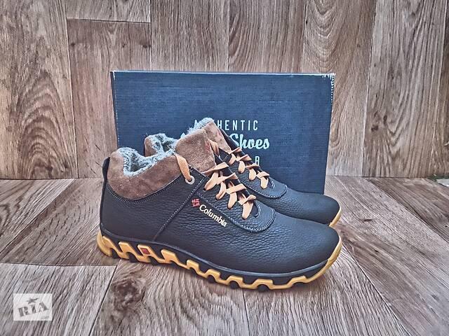 бу Мужские Зимние Ботинки Columbia Winter Boots кожаные черные в Херсоне