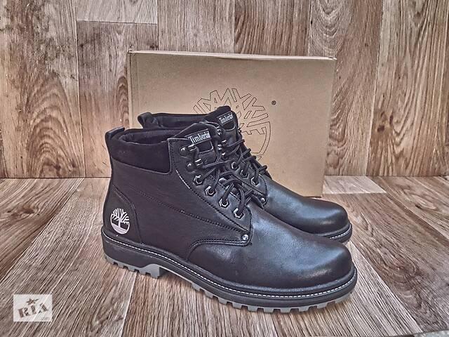 бу Мужские Зимние Ботинки Timberland Winter Boots кожаные черные  в Херсоне