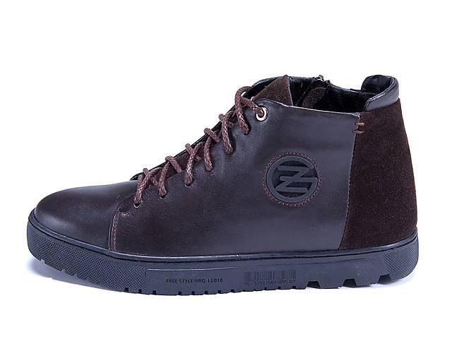 a55e02a5d Мужские зимние кожаные ботинки ZG GO GO Man Brown- объявление о продаже в  Киеве