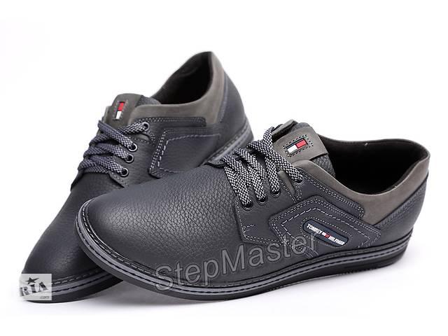 купить бу Спортивные кожаные туфли Tommy Hilfiger Sheriff Black-Grey в Вознесенске