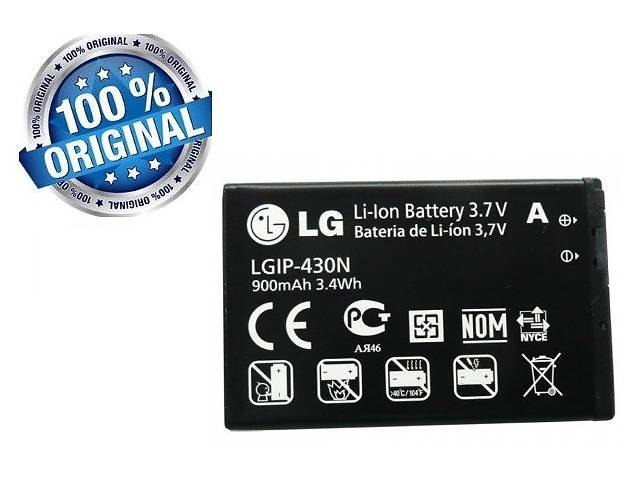 Аккумулятор батарея 430N для LG GS290 / T300 / GW300 / GM360i Viewty Snap оригинал