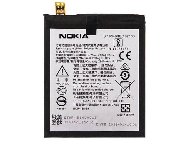 продам Аккумулятор HE321 для Nokia 5 2900 mAh Черный (43531) бу в Києві